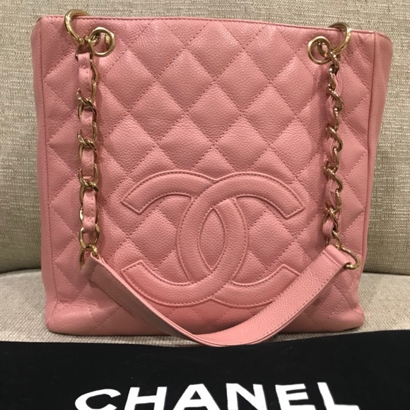 1d64c7ba13fd8 CHANEL Handbags - Auth Chanel Tote bag Caviar Leather Pink 💝💝